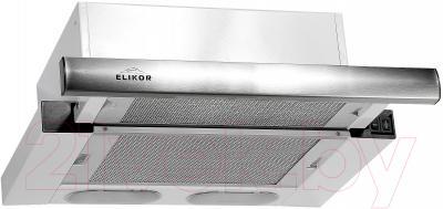 Вытяжка телескопическая Elikor Интегра 45П-400-В2Л (белый/нержавеющая сталь)