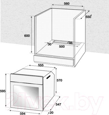Электрический духовой шкаф Beko BIE22300XP