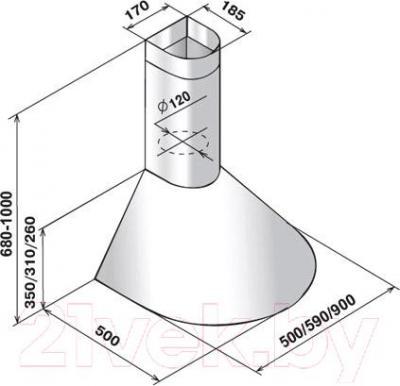 Вытяжка купольная Elikor Эпсилон 60Н-430-П3Л (нержавеющая сталь/серебро)