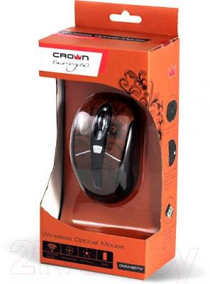 Мышь Crown Micro CMM-927W (коричневый) - упаковка