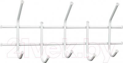 Вешалка для одежды Sheffilton Стандарт 2/5 В2-5-5 (белый/белый)