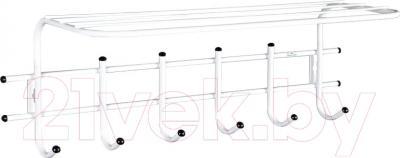 Вешалка для одежды Sheffilton Стандарт 1/6 В2-63 (белый/черный)