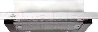 Вытяжка телескопическая Elikor Интегра Glass 50Н-400-В2Г (белый/нержавеющая сталь)