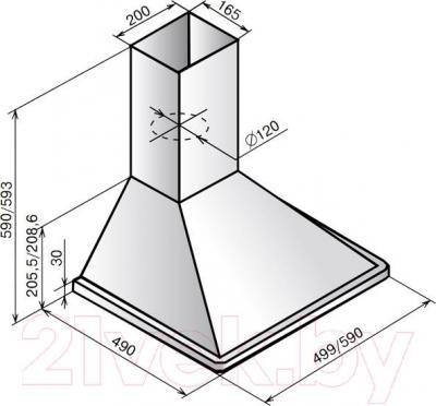 Вытяжка купольная Elikor Оптима 60Н-400-П3Л (белый)