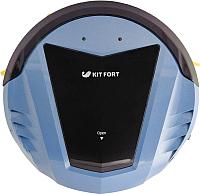 Робот-пылесос Kitfort KT-511-2 (черно-голубой) -