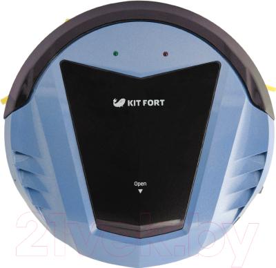 Робот-пылесос Kitfort KT-511-2 (черно-голубой)