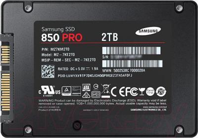 SSD диск Samsung 850 Pro 2TB (MZ-7KE2T0BW)