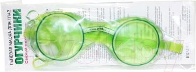 Гелевая маска для глаз Bradex Огурчики KZ 0194 - в упаковке