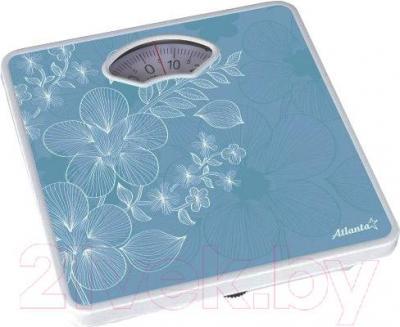 Напольные весы механические Atlanta ATH-6100 (голубой) - голубые с белыми цветами/цвет уточняйте при заказе