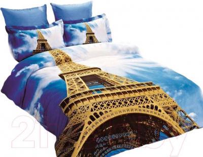 Комплект постельного белья Arya Сатин Печатное 3D Eifel Tower / PB200X220Eif (200x220)