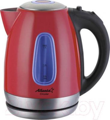 Электрочайник Atlanta ATH-786 (красный) - цвет чайника: красный/цвет уточняйте при заказе