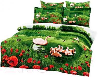 Комплект постельного белья Arya Сатин Печатное 3D Katie Natural / PB200X220KaN (200x220)