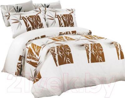 Комплект постельного белья Arya Бамбук Canna Brown / PBL200X220GanB (200x220)