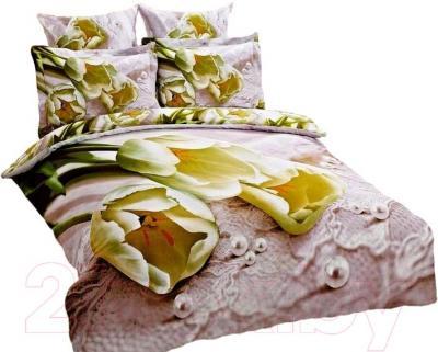 Комплект постельного белья Arya Сатин Печатное 3D Laced Flower / PB200X220Lac (200x220)
