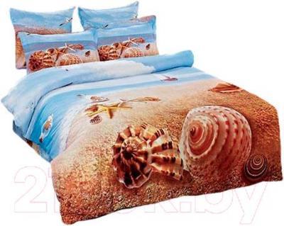 Комплект постельного белья Arya Сатин Печатное 3D Sea Star / PB200X220SS (200x220)