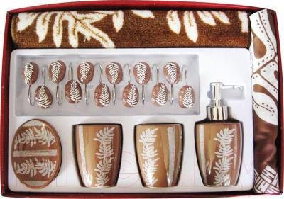 Набор аксессуаров для ванной Arya Edee / NDVEdeeK (коричневый)
