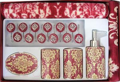 Набор аксессуаров для ванной Arya Cameo / NDVCameoB (бордовый)
