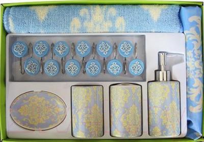 Набор аксессуаров для ванной Arya Alanis / NDVAlanisG (голубой)