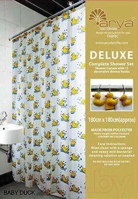 Текстильная шторка для ванной Arya Baby Duck / SDV180BDu (180x180)