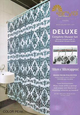Текстильная шторка для ванной Arya Color Peak / SDV180CPe (180x180)
