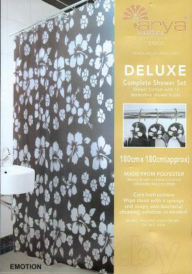 Текстильная шторка для ванной Arya Emotion / SDV180Emo (180x180)