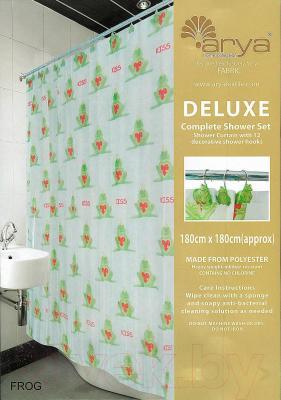 Текстильная шторка для ванной Arya Frog / SDV180Fro (180x180)