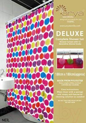 Текстильная шторка для ванной Arya Neil / SDV180Nei (180x180)