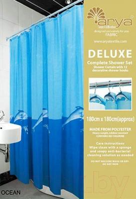 Текстильная шторка для ванной Arya Ocean / SDV180Oce (180x180)