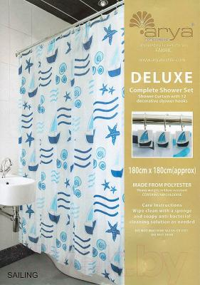 Текстильная шторка для ванной Arya Sailing / SDV180Sai (180x180)