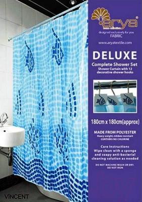 Текстильная шторка для ванной Arya Vincent / SDV180Vin (180x180)