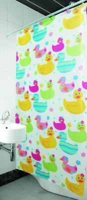Текстильная шторка для ванной Arya Ducks / SDV180Duc (180x180)