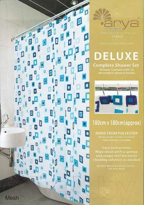 Текстильная шторка для ванной Arya Mesh / SDV180Mes (180x180)