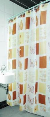 Текстильная шторка для ванной Arya Butter Fly / SDV180BFl (180x180)