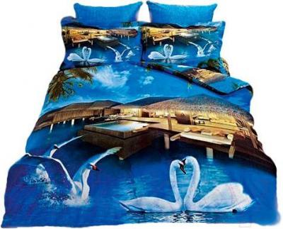 Комплект постельного белья Arya Сатин Печатное 3D Maldives / PB200X220Mald (200x220)