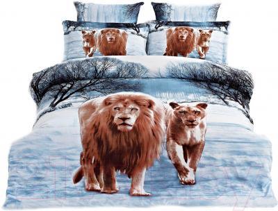 Комплект постельного белья Arya Сатин Печатное 3D Winter Lions / PB200X220WL (200x220)