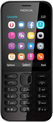 Мобильный телефон Nokia 222 (черный)