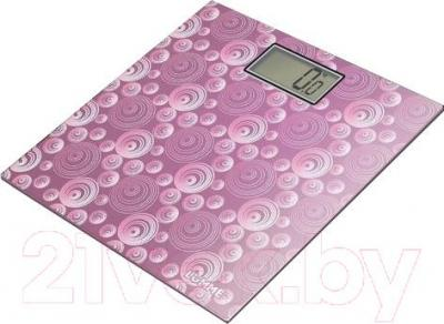 Напольные весы электронные Lumme LU-1306 (розовый/круги)