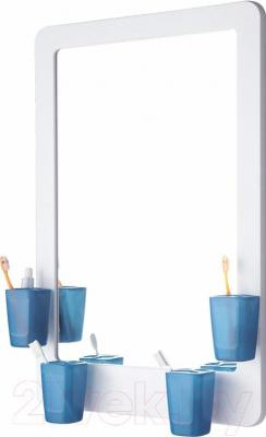Зеркало для ванной ОРИО 4499-1/3-4S (синий)