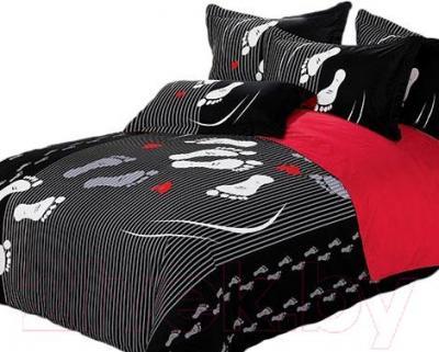 Комплект постельного белья Arya Сатин Печатное Foot Print / PB200X220Fo (200x220)