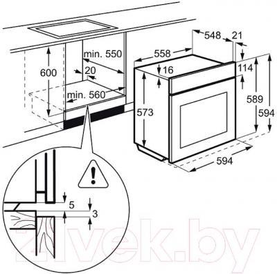 Электрический духовой шкаф Electrolux EOB96631AX