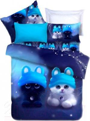 Комплект постельного белья Arya Сатин Печатное Cat Dream / PB200X220Cat (200x220)