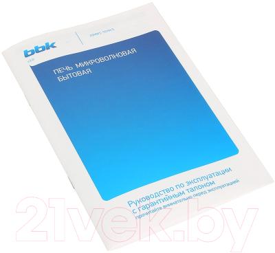 Микроволновая печь BBK 20MWS-707M/S - Инструкция
