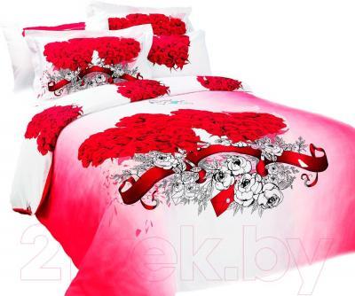 Комплект постельного белья Arya Сатин Печатное Angel Red / PB200X220AnR (200x220)