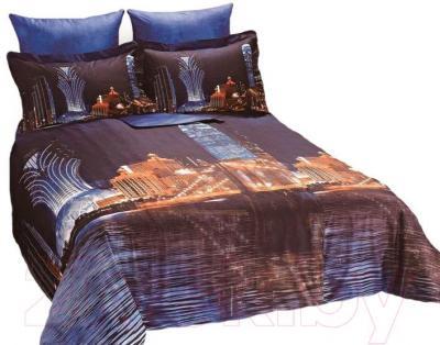 Комплект постельного белья Arya Сатин Печатное 3D Midnight City / PB200X220Mid (200x220)
