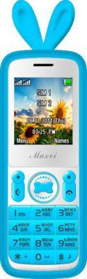 Мобильный телефон Maxvi J1 (синий) - общий вид в чехле