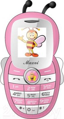Мобильный телефон Maxvi J8 (розовый)