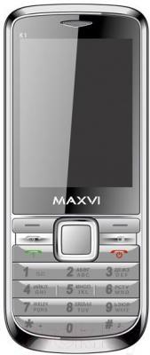 Мобильный телефон Maxvi K1 (серебристый)