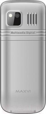 Мобильный телефон Maxvi M2 (серебристый)