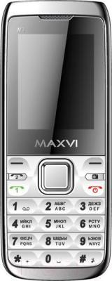 Мобильный телефон Maxvi M3 (серебристый)