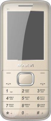 Мобильный телефон Maxvi V1 (золотой)